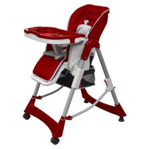 Cadeira de bebé alta vermelho bordô altura ajustável - PORTES GRÁTIS