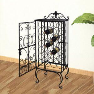 Garrafeira, suporte de metal para 28 garrafas de vinho - PORTES GRÁTIS