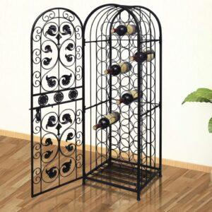 Garrafeira, suporte de metal para 45 garrafas de vinho - PORTES GRÁTIS