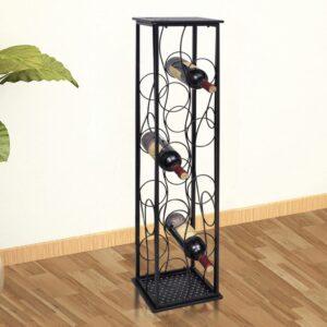 Garrafeira de metal, suporte para 8 garrafas de vinho - PORTES GRÁTIS
