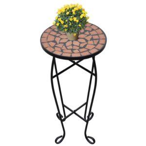 Mesa Lateral para Plantas em Mosaico Terracotta - PORTES GRÁTIS