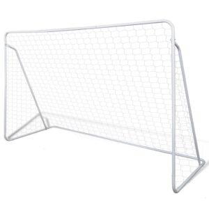 Baliza de Futebol, de Aço, 240 x 90 x 150 cm, de Alta Qualidade - PORTES GRÁTIS