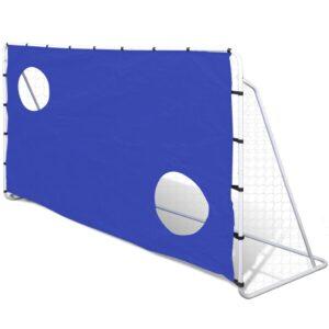 Baliza de futebol com Tela de Pontaria, de Aço, 240 x 92 x 150 cm - PORTES GRÁTIS