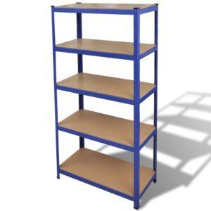 Prateleira de garagem para armazenamento azul - PORTES GRÁTIS