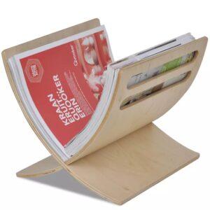 Suporte de madeira para livros / Natural - PORTES GRÁTIS
