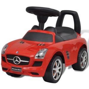 Carro de empurrar para crianças, vermelho Mercedes Benz - PORTES GRÁTIS