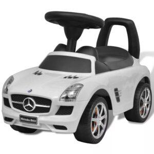 Mini-Carro Infantil de Impulso com Pés, Mercedes Benz, Branco - PORTES GRÁTIS