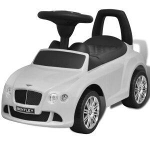 Mini-Carro Infantil, de Impulso com Pés, modelo Bentley, cor Branca - PORTES GRÁTIS