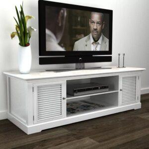 Gabinete de madeira branca para o TV - PORTES GRÁTIS