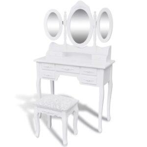 Toucador com 3 Espelhos e Banquinho - PORTES GRÁTIS