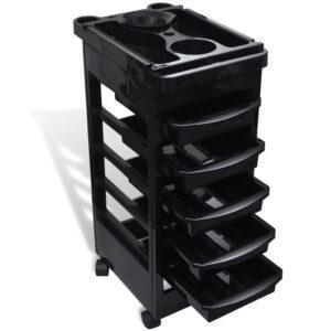 Carrinho de armazenamento para salão preto - PORTES GRÁTIS