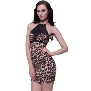 Lingerie atractiva, impressão de leopardo, tamanho único - PORTES GRÁTIS