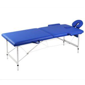 Mesa de massagem, dobrável, com 2 zonas, com estrutura de aluminio - PORTES GRÁTIS