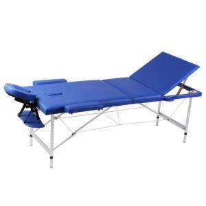 Mesa de massagem, dobrável, com 3 zonas, com estrutura de aluminio - PORTES GRÁTIS