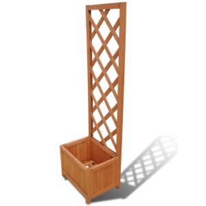 Plantador de treliça 40 x 30 x 135 cm - PORTES GRÁTIS