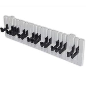 Bengaleiro design teclado piano com 16 ganchos pretos - PORTES GRÁTIS