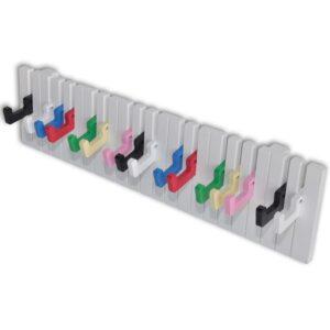 Bengaleiro de parede, design teclado de piano, 16 ganchos coloridos - PORTES GRÁTIS