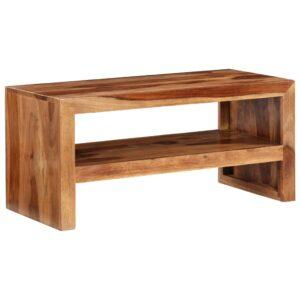 Mesa de apoio/móvel TV madeira sheesham sólida - PORTES GRÁTIS