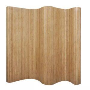 Biombo/divisória de sala 250x195 cm bambu natural - PORTES GRÁTIS