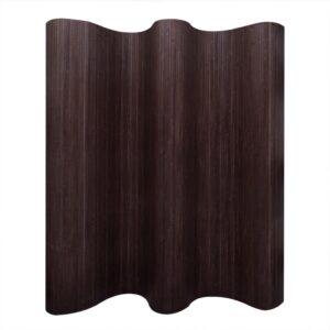 Biombo/divisória de sala 250x195 cm bambu castanho escuro - PORTES GRÁTIS