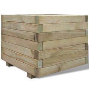 Plantador quadrado, 50 x 50 x 40 cm em madeira - PORTES GRÁTIS