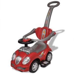 Carro motorizado vermelho com barra de proteção - PORTES GRÁTIS