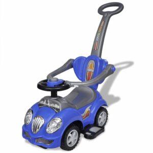 Carro motorizado azul com barra de proteção - PORTES GRÁTIS