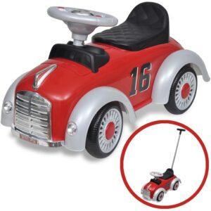 Carro motorizado vermelho retro com barra de proteção - PORTES GRÁTIS