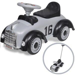 Carro motorizado cinzento retro com barra de proteção - PORTES GRÁTIS