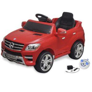 Carro eléctrico Mercedes Benz ML350 vermelho 6V com controlo remoto - PORTES GRÁTIS