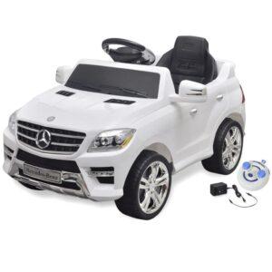 Carro eléctrico Mercedes Benz ML350 branco 6V com controlo remoto - PORTES GRÁTIS