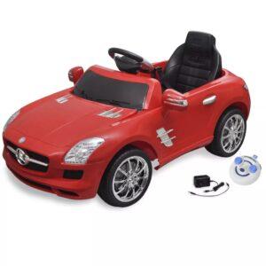 Carro eléctrico Mercedes Benz SLS AMG vermelho 6V com controlo remoto - PORTES GRÁTIS