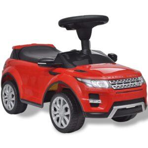 Carro eléctrico Land Rover 348 para crianças com musica, vermelho - PORTES GRÁTIS