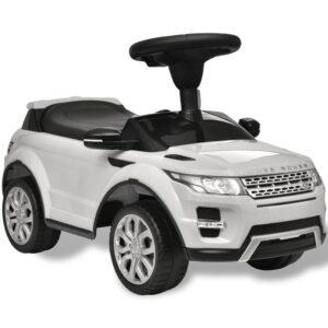 Carro eléctrico Land Rover 348 para crianças com musica - branca - PORTES GRÁTIS