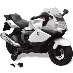 Motocicleta eléctrica BMW 283 para crianças- branca 6V - PORTES GRÁTIS
