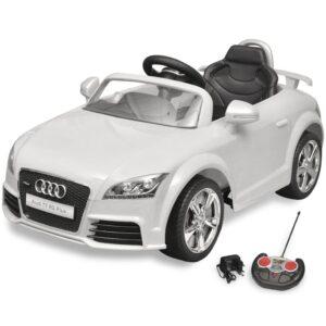 Carro Audi TT RS para crianças com controlo remoto - branco - PORTES GRÁTIS