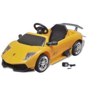 Carro eléctrico Lamborghini Murciealgo LGOLP 670-4SV 6 V, amarelho - PORTES GRÁTIS