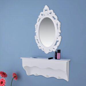Conjunto armário de parede para chaves e jóias com espelho e ganchos - PORTES GRÁTIS