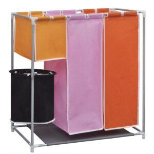 Sorteador para lavanderia com cesto, 3 secções - PORTES GRÁTIS