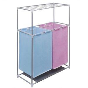 Sorteador lavanderia com cesto + prateleira para secagem 2 secções - PORTES GRÁTIS