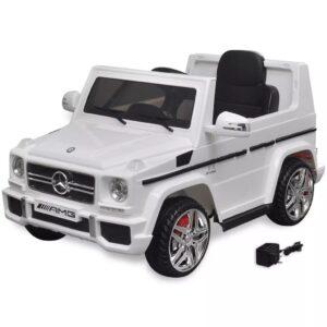 Carro de passeio elétrico Mercedes Benz G65 SUV 2 motores branco - PORTES GRÁTIS