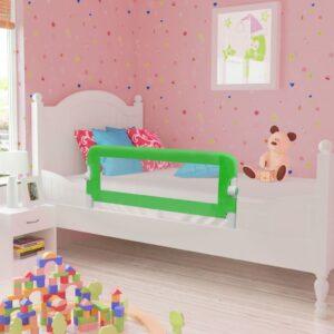 Toddler Barra de segurança para cama 102 x 42 cm verde - PORTES GRÁTIS