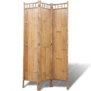 Divisória de ambientes, 3 painéis bambu - PORTES GRÁTIS