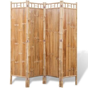 Divisória de ambientes, 4 painéis bambu - PORTES GRÁTIS