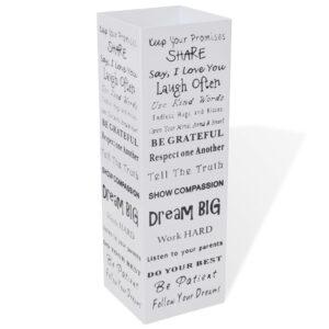 Suporte guarda-chuvas/de armazenamento quadrado branco aço 48,5 cm - PORTES GRÁTIS