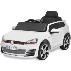 Carro ride-on VW Golf GTI 7 branco 12V + controlo remoto - PORTES GRÁTIS