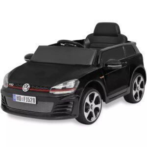 Carro ride-on VW Golf GTI 7 preto 12V + controlo remoto - PORTES GRÁTIS