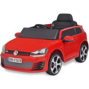 Carro ride-on VW Golf GTI 7 vermelho 12V + controlo remoto - PORTES GRÁTIS
