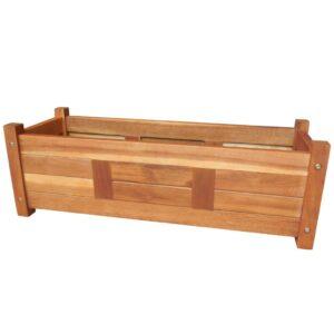 Vaso para plantas, madeira de acácia 70x25x25 cm castanho - PORTES GRÁTIS