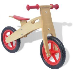 Bicicleta de equilíbrio em madeira vermelho - PORTES GRÁTIS